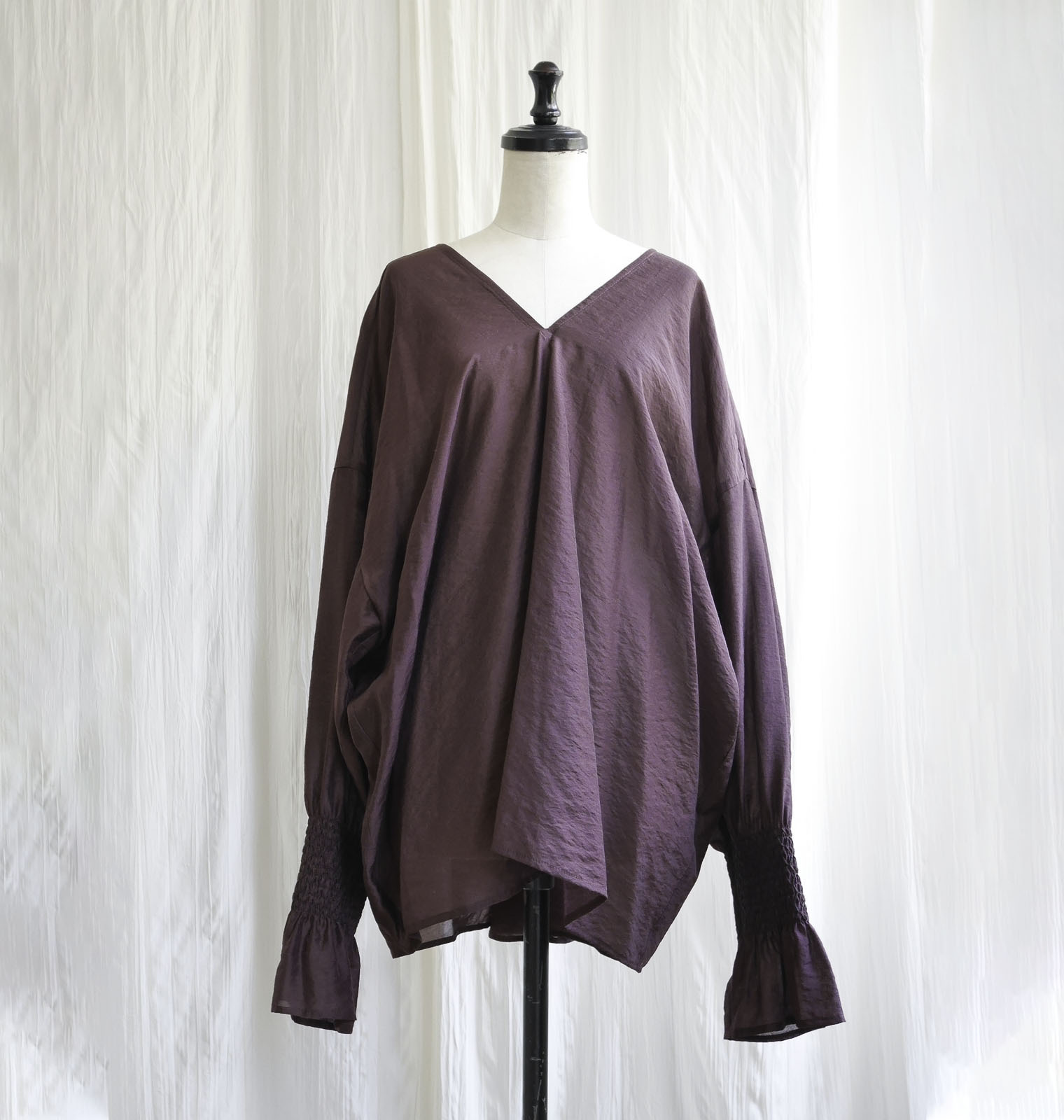 CUPURA SMOKKING BLOUSE /BORDE