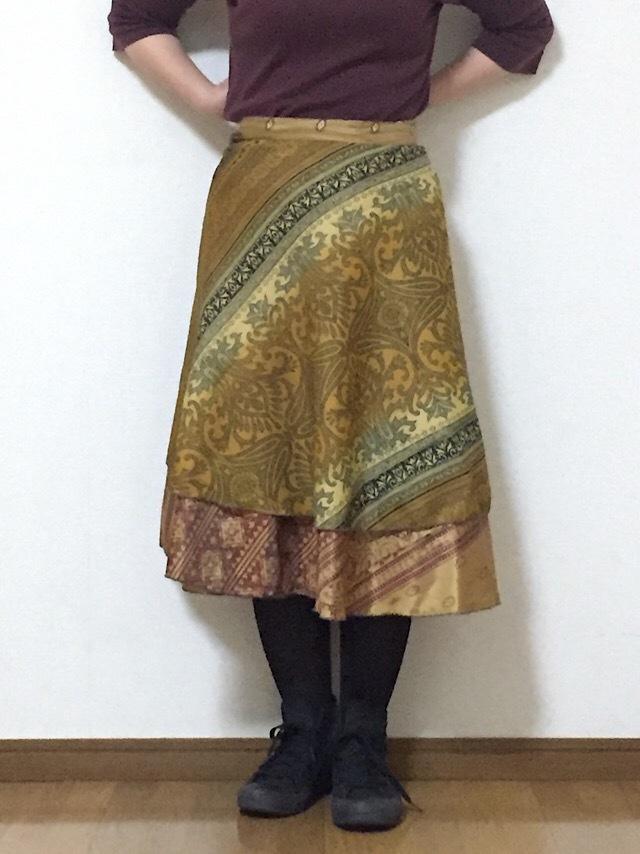 dss-037 シルクサリー巻きスカート ショート