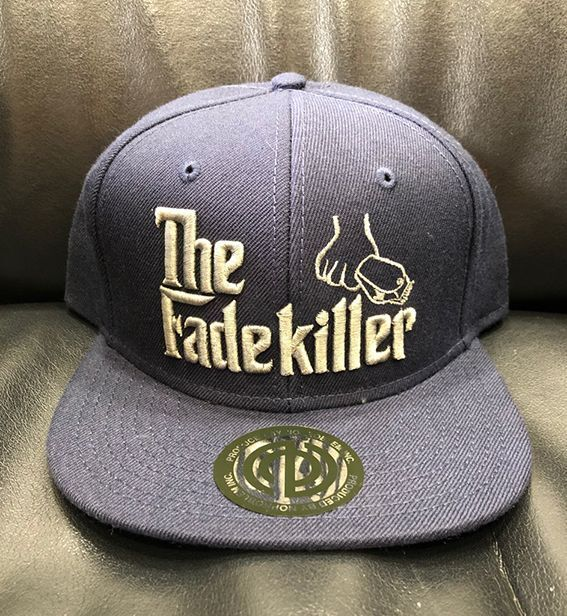 "BARBERS "" The Fadekiller"" CAP ネイビー×シルバーグレー"
