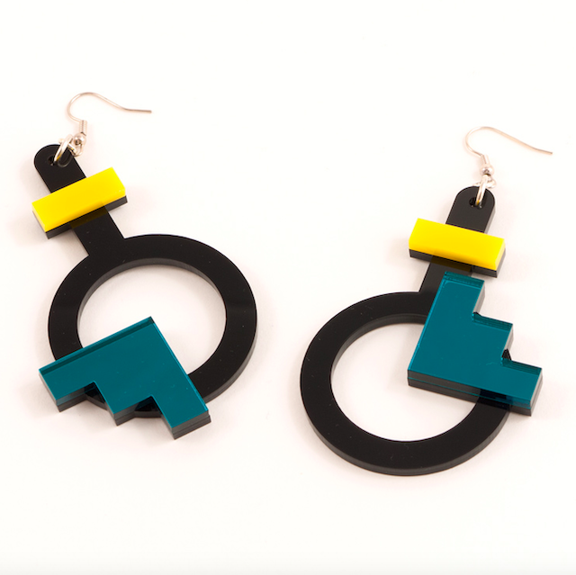 "MYSTIC FORMS ""Geometric Perspex Statement Earrings "" FORM003 ピアス"