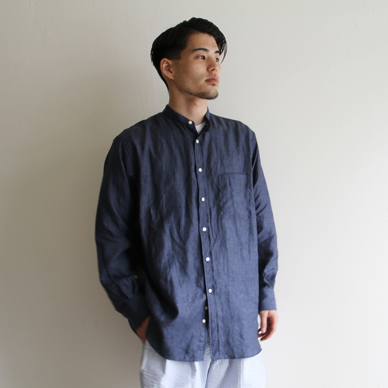 INDIVIDUALIZED SHIRTS【 mens 】Terminal 別注 linen shirts