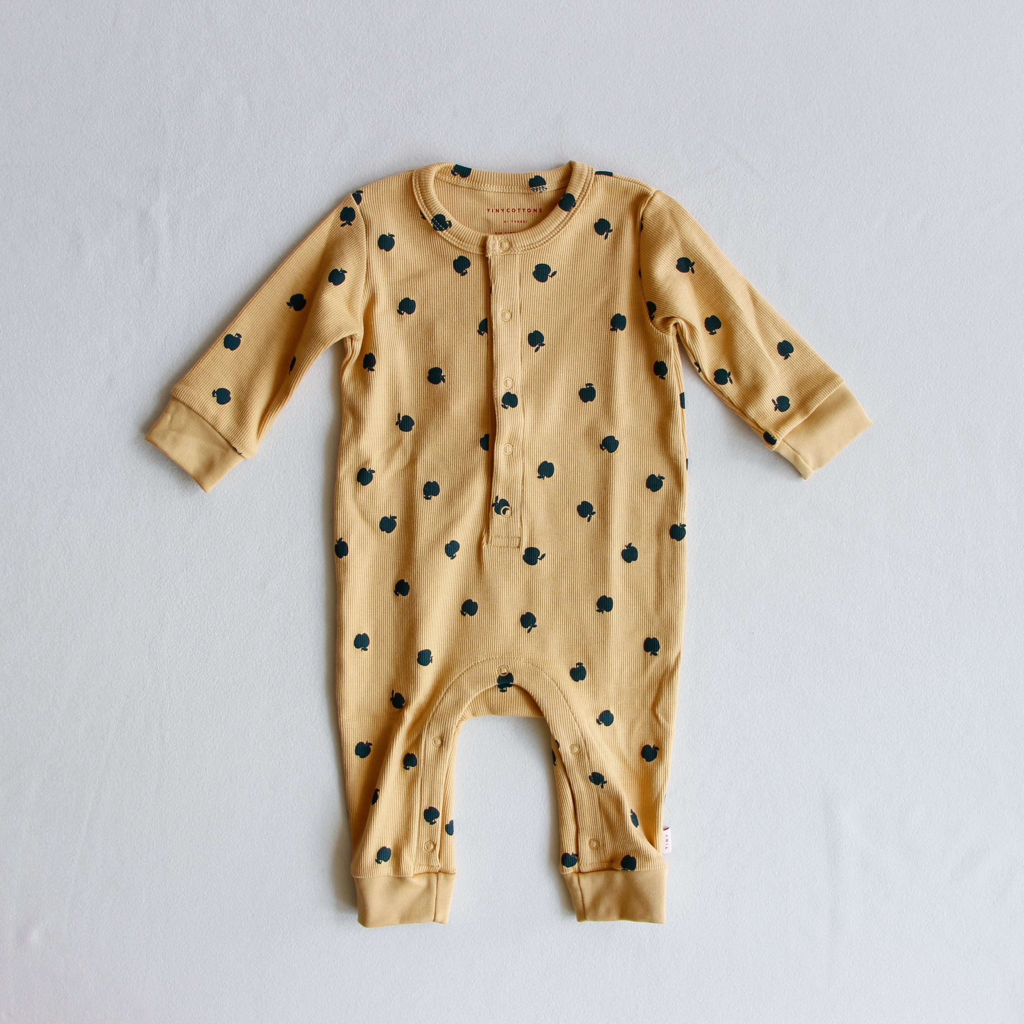 《TINYCOTTONS 2019AW》SMALL APPLES ONE-PIECE / sand × bottle green