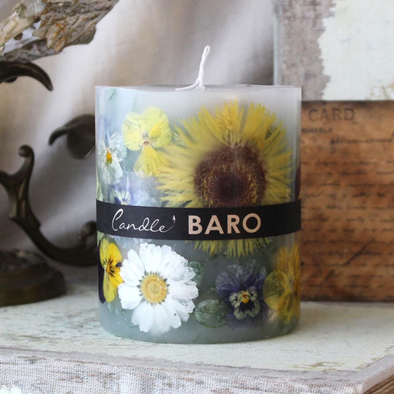 BC623 ガーベラのイエローボタニカルキャンドル ロマンティックガーデンの香り