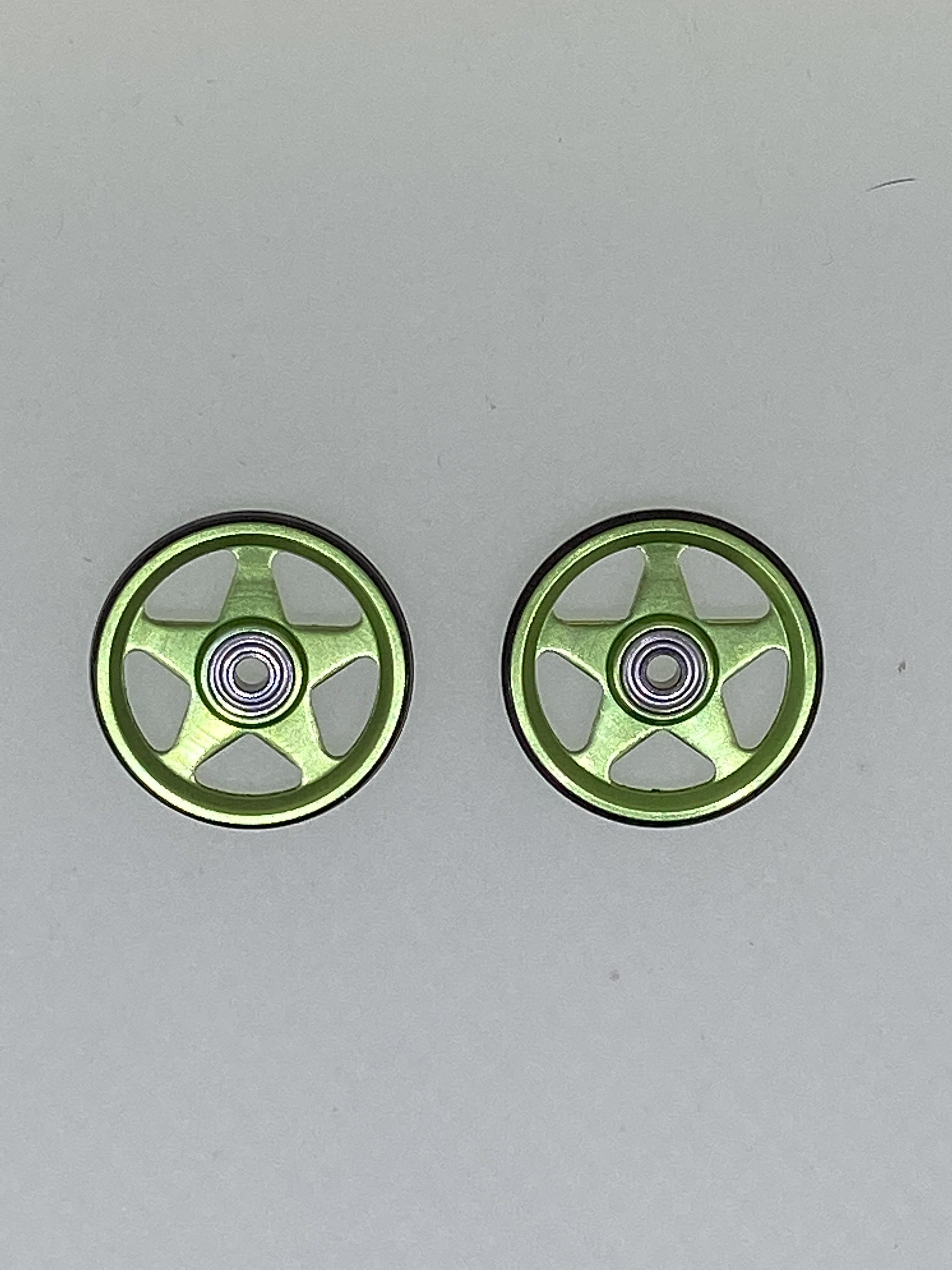 IKT加工ローラー 5本スポーク 緑/黒