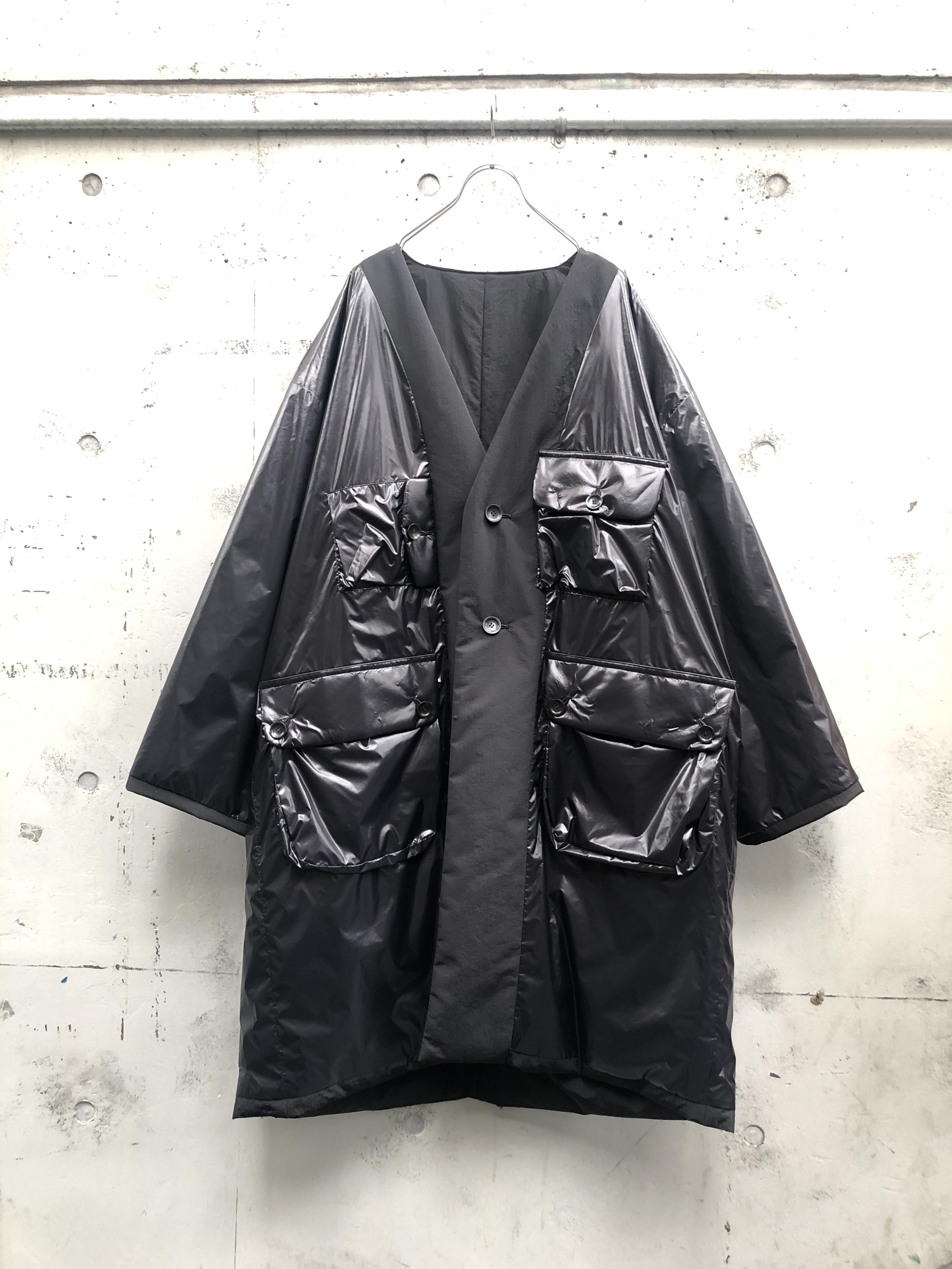 『my beautiful landlet』ripple finish reversible nylon coat/BLACK SIZE 2