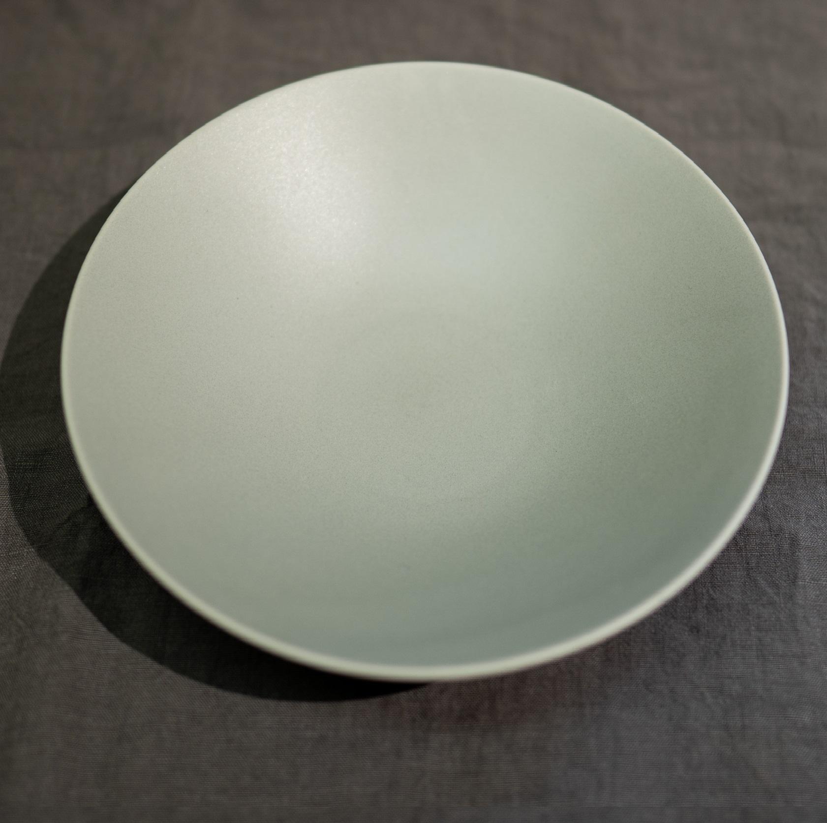 Stoneプレート クープ皿 (リッチグレー・リッチホワイト) 26㎝