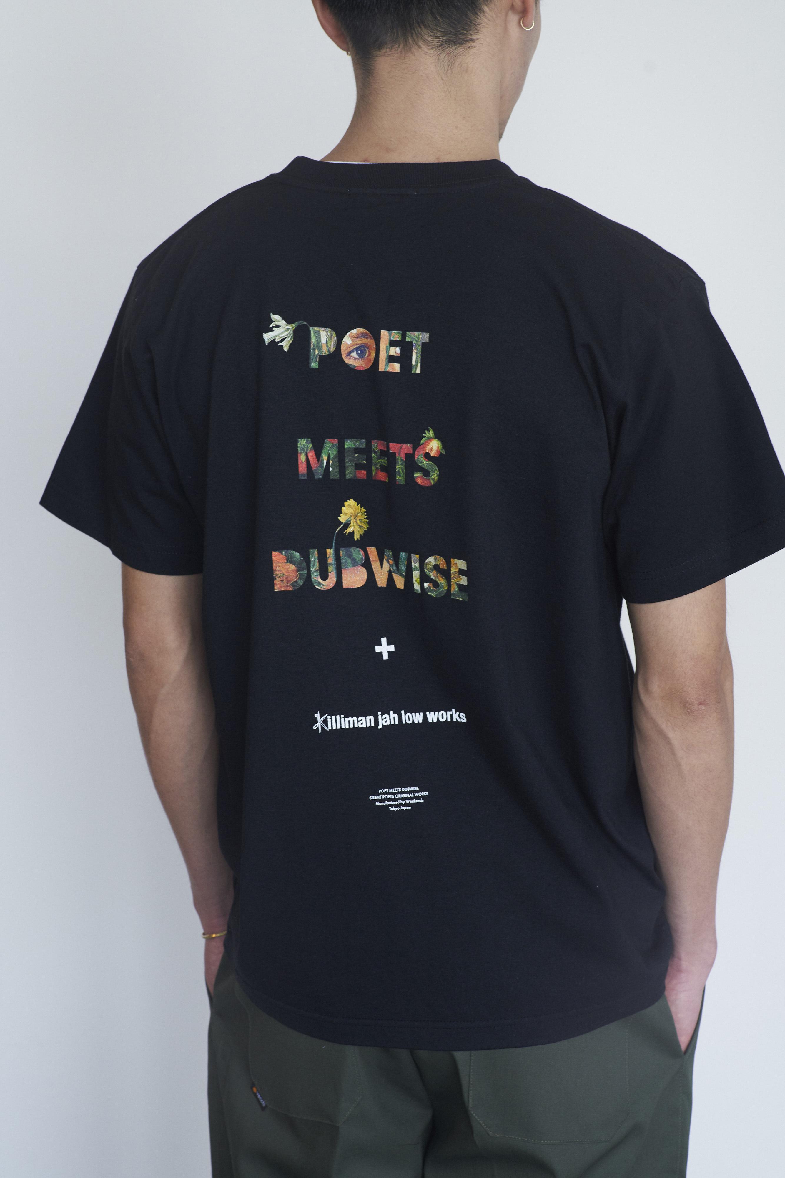 POET MEETS DUBWISE Killiman Jah Low Works PMD Logo Collage Inkjet T-shirt