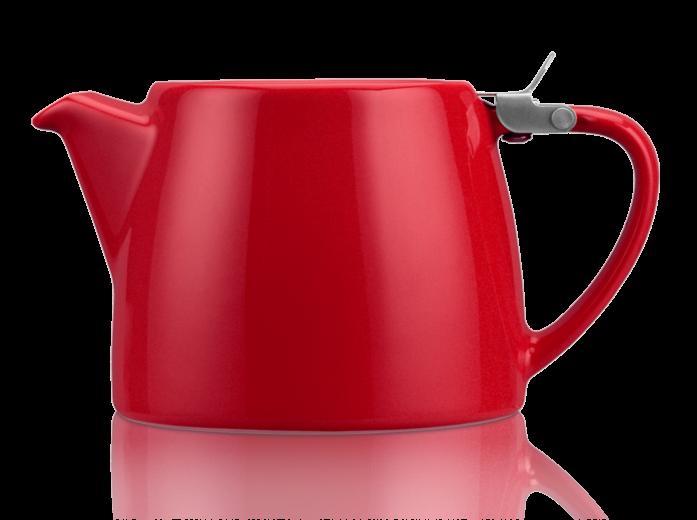 KUSMI TEA スタンプ・ティーポット RED