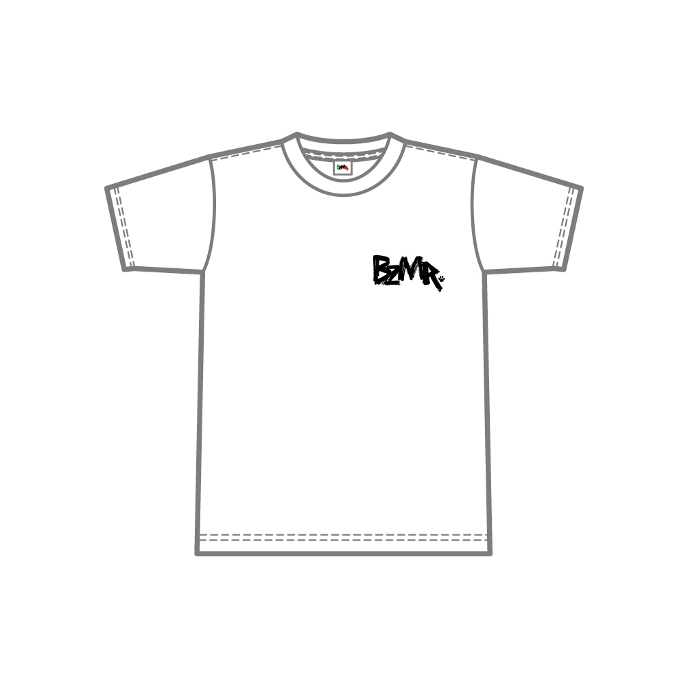 BZMR [One point mono tee] White. - 画像1