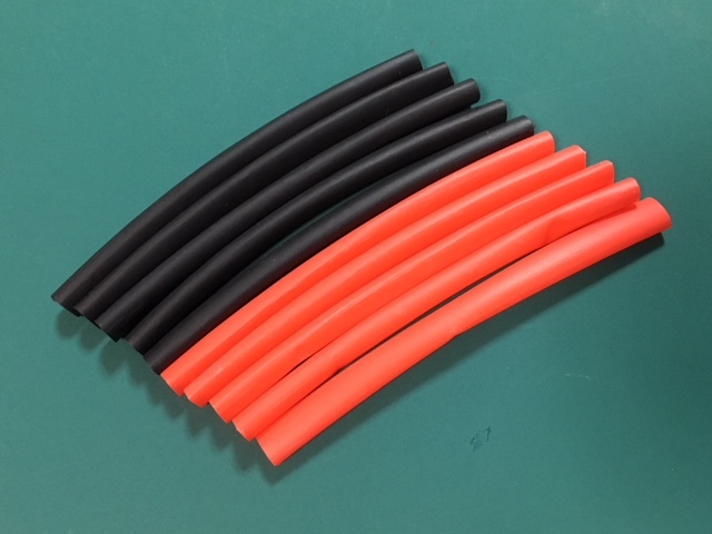 ★ φ6.0mm熱収縮チューブ、収縮率約50% シュリンクチューブ φ6.0mm×10㎝ 赤&黒各5本