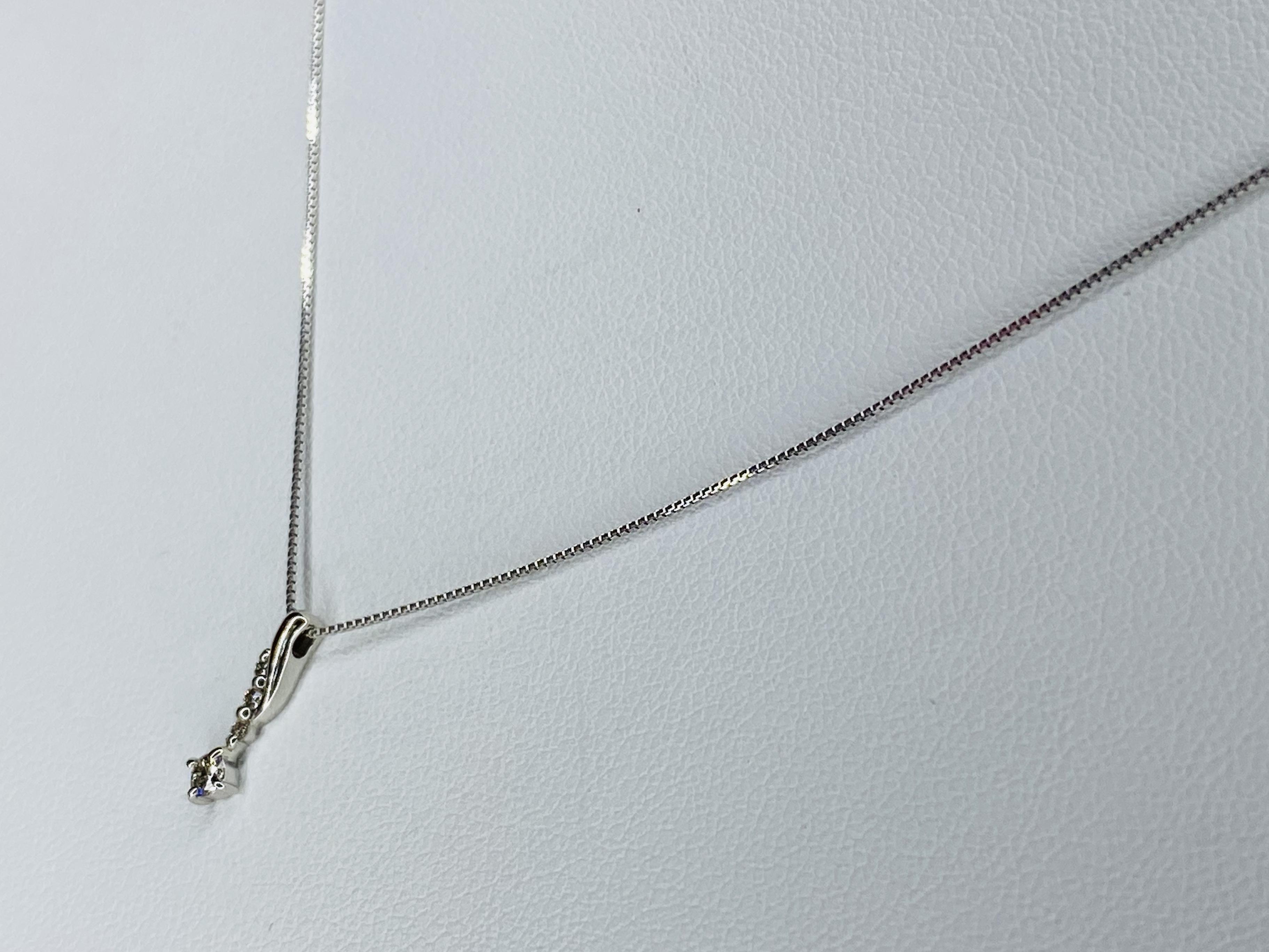PT900/850 0.08ctダイヤモンドネックレス ○