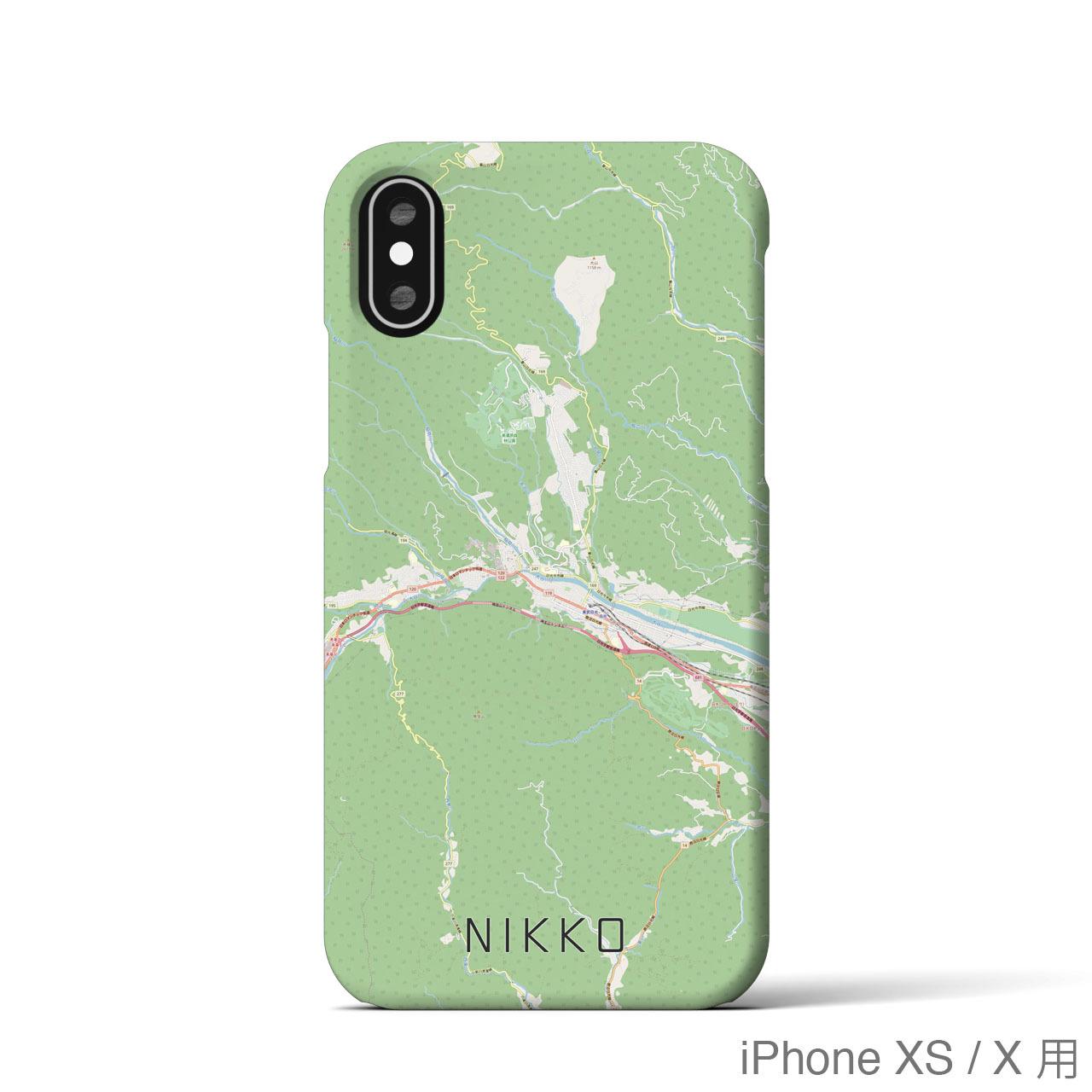 【日光】地図柄iPhoneケース(バックカバータイプ・ナチュラル)