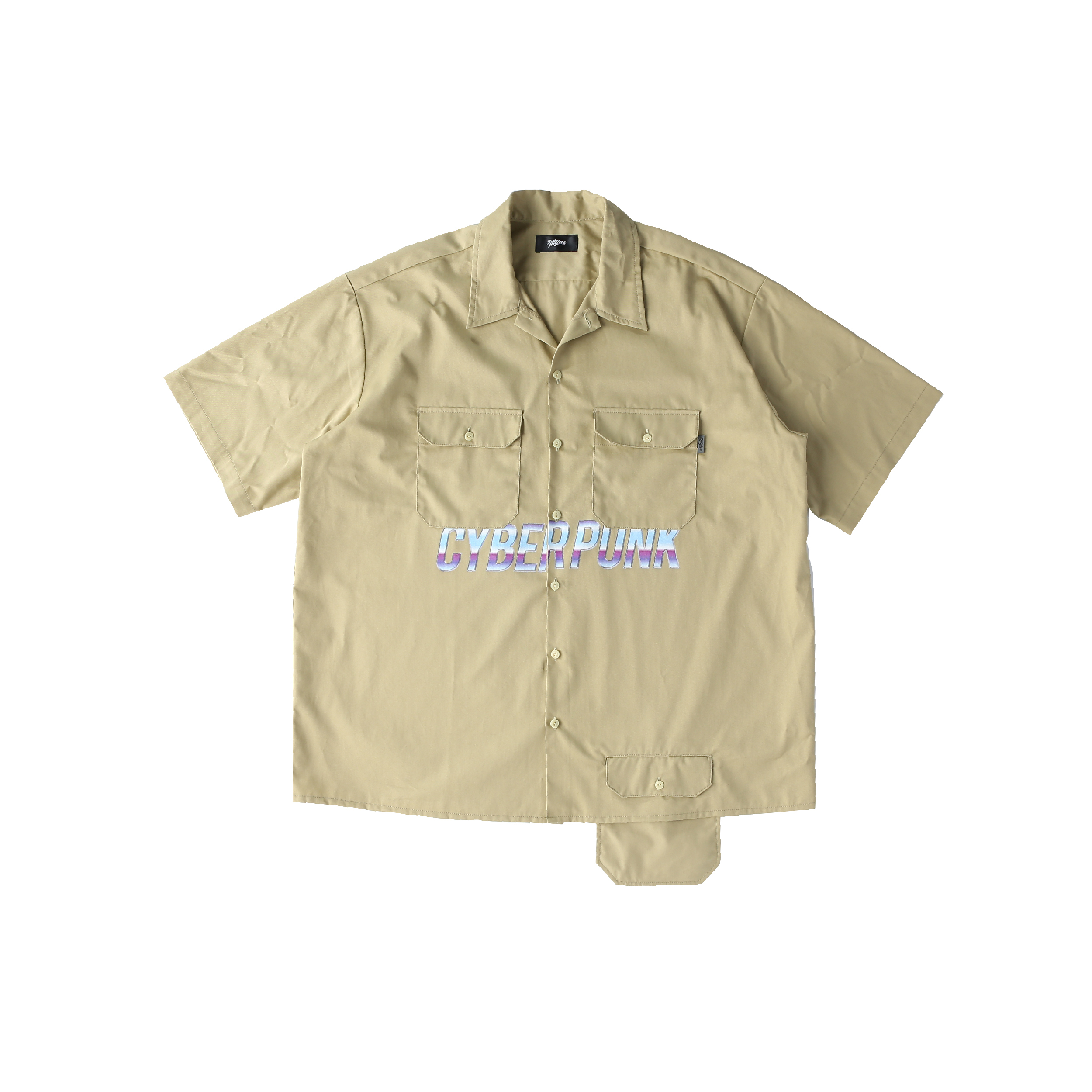 CYBER PUNK work shirt / BEIGE - 画像1