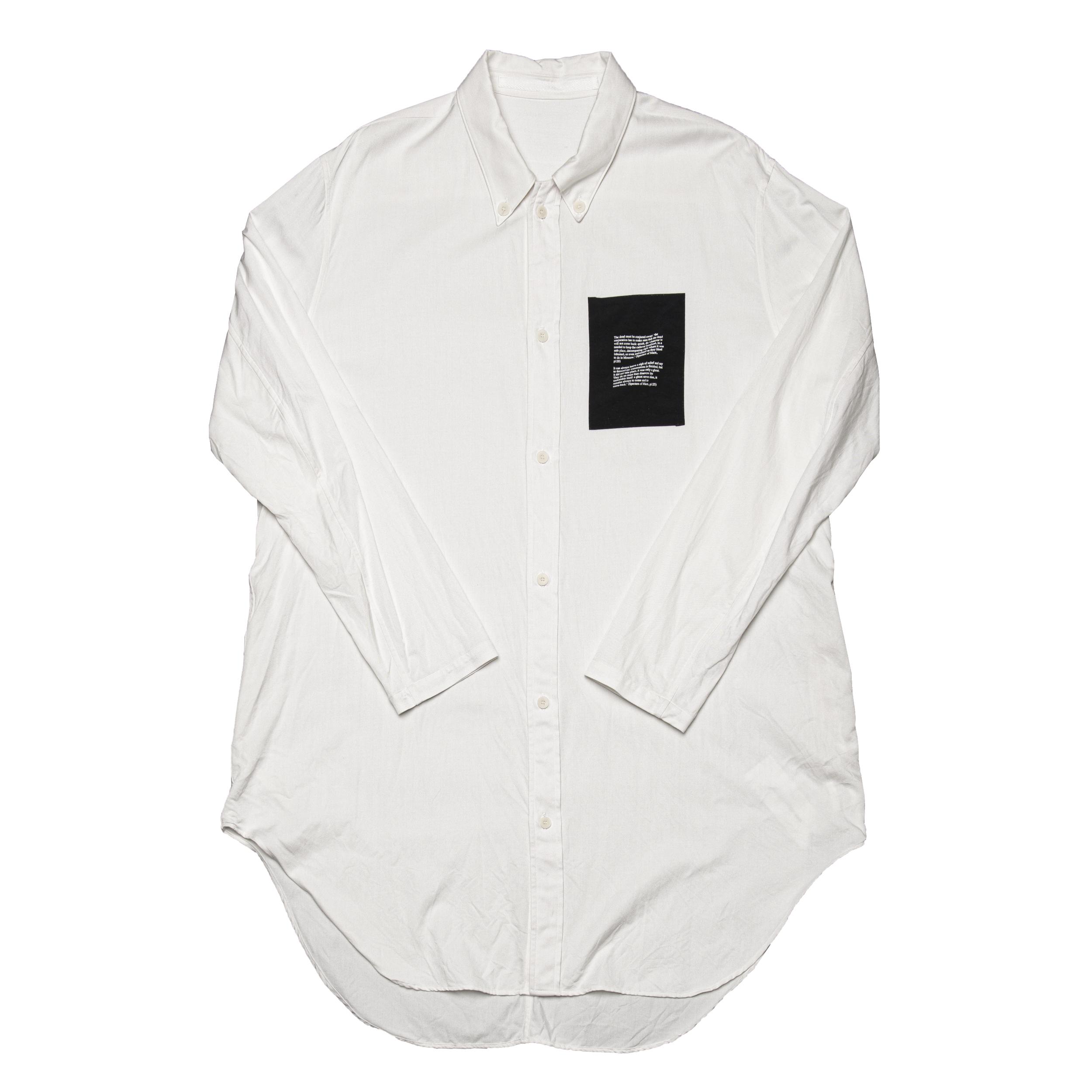 687SHM2-OFF / ドローコードロングシャツ