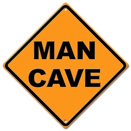 メタルサイン Man Cave Diamond 約44cm角