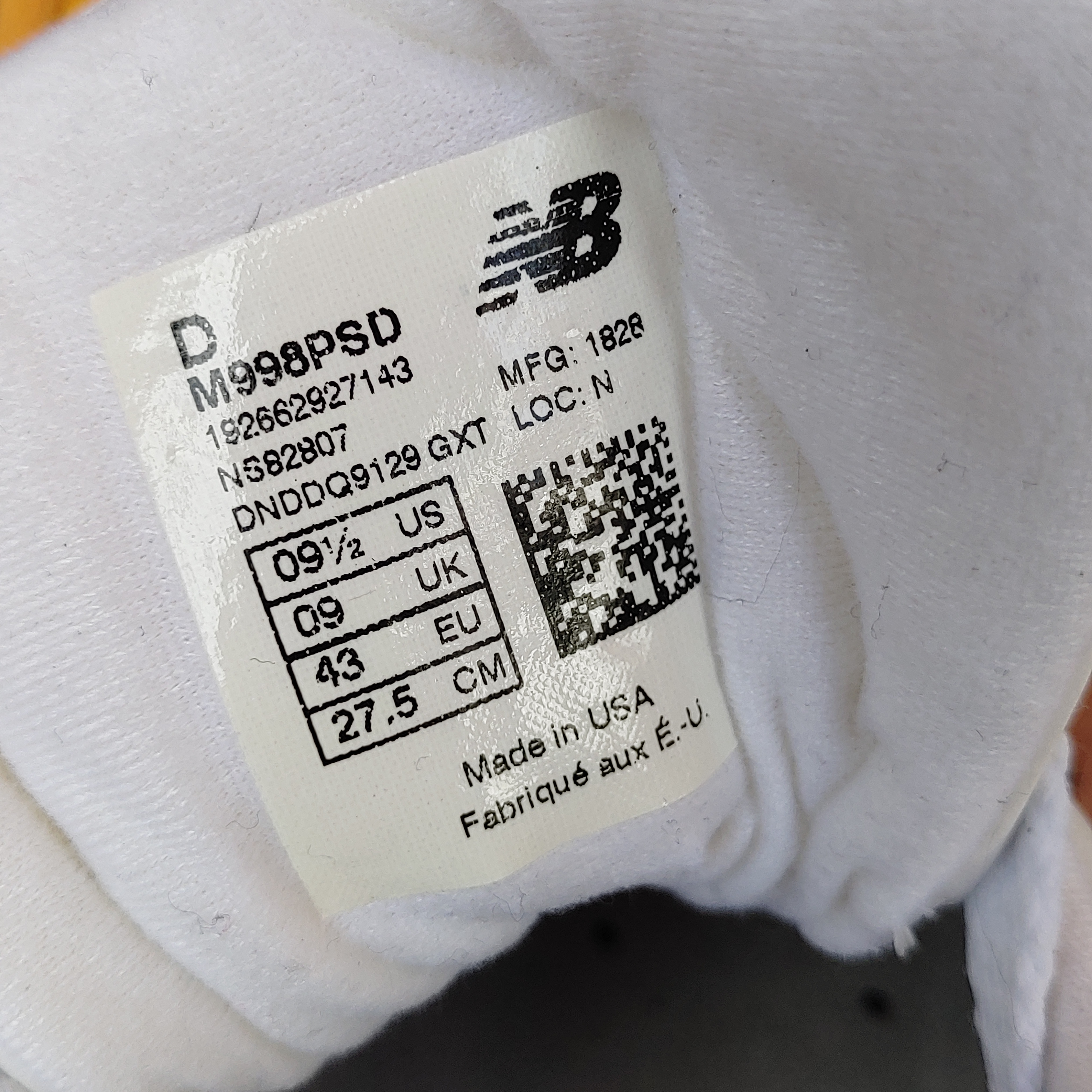 【USA】NEW BALANCE 998 US9.5(27.5cm)