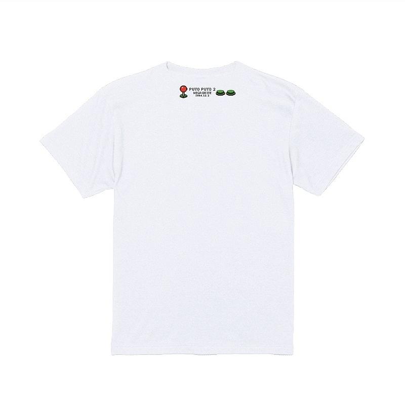 メガドライブ版「ぷよぷよ通」Tシャツ ホワイト