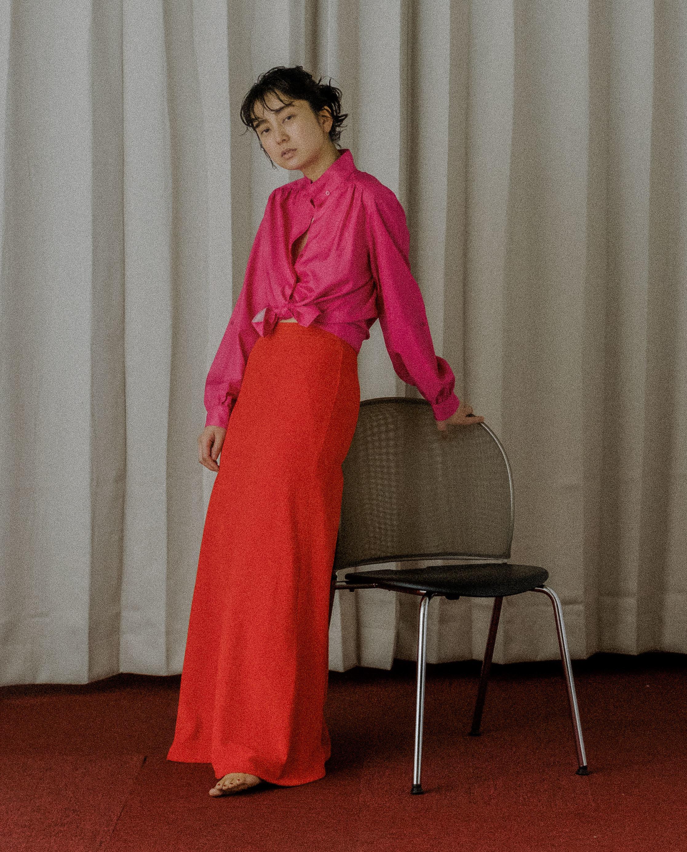 70's Pink Silk L/S Shirt