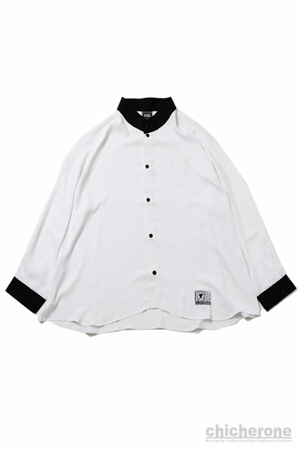 【SILLENT FROM ME】ELEGANT -Stand Up Collar Shirts- WHITE