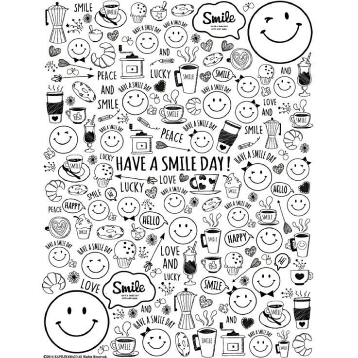 SMILE Cafe / スマイルカフェ A4サイズ ポーセリンアート用転写紙