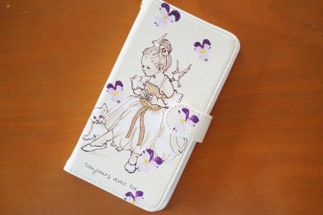 バレリーナ柄手帳型スマホケース Android M