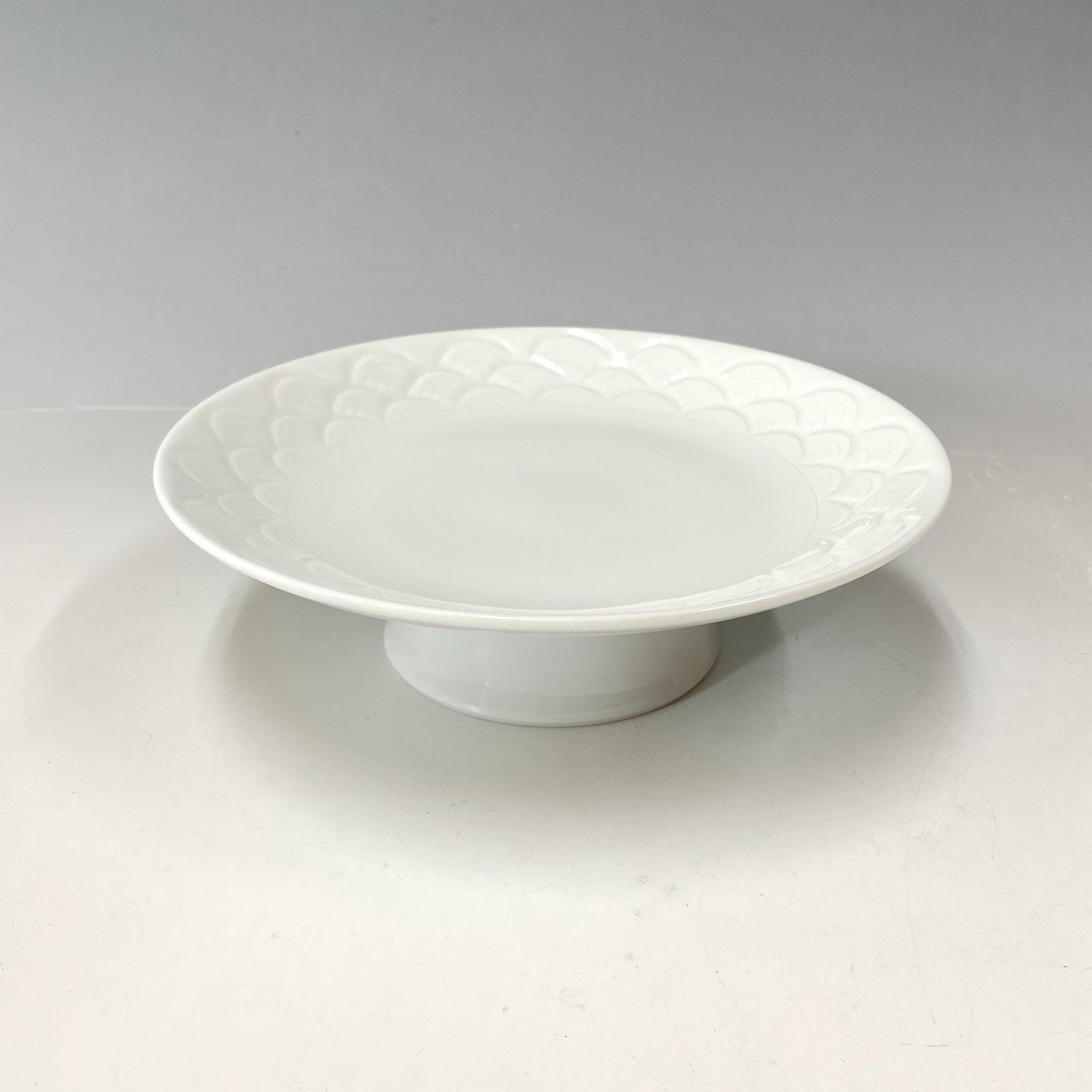 【中尾恭純】白磁青海波コンポート
