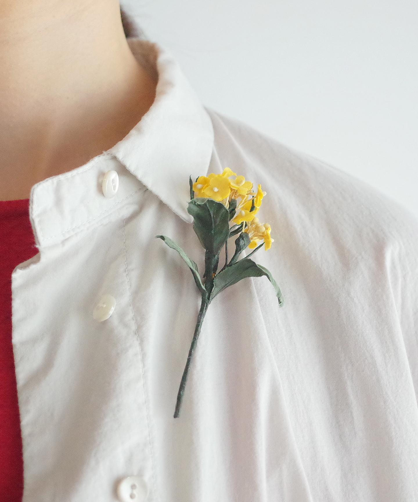 【菜の花】ブローチ