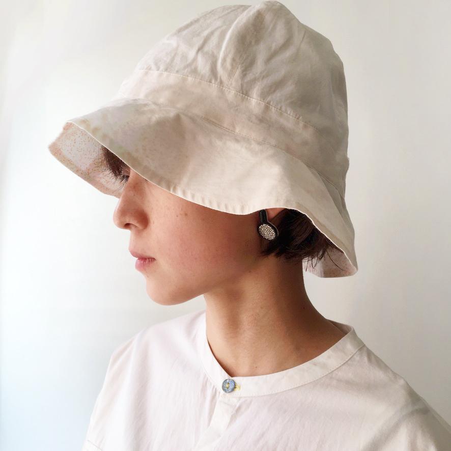 "Reversible Bucket Hat ""pink"" organic cotton"