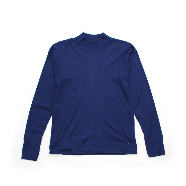 Italy Military Mock Neck Cotton Knit
