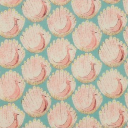 【受注制作】リバティ手帳カバー・ぺンケースセット*ピーコックス ライトブルー