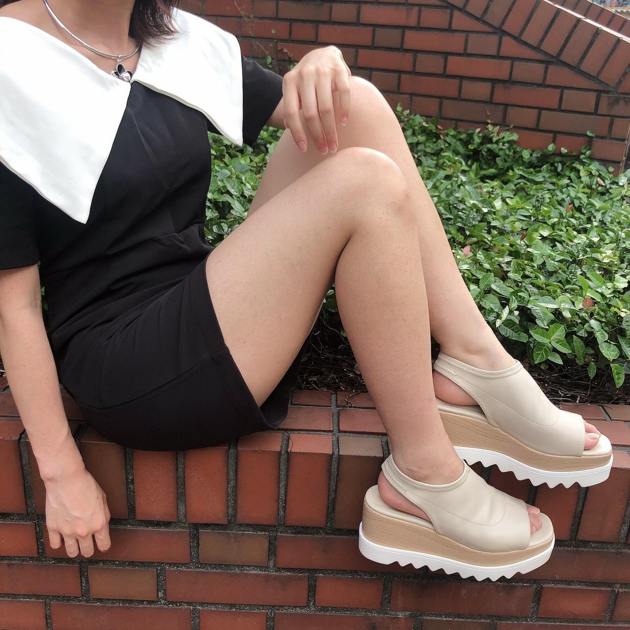 【LAST1】platform summer sandal (ivory)