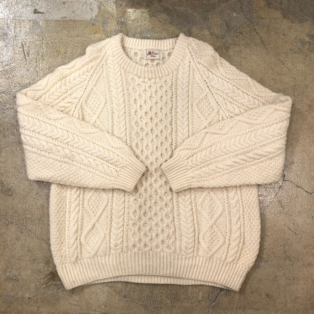 Aran Cable Sweater ¥8,900+tax