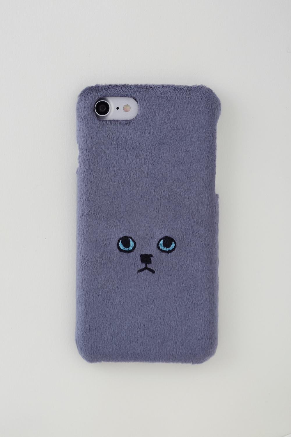 【新生地】ネコiPhone6/6sケース【グレーブルーアイ】