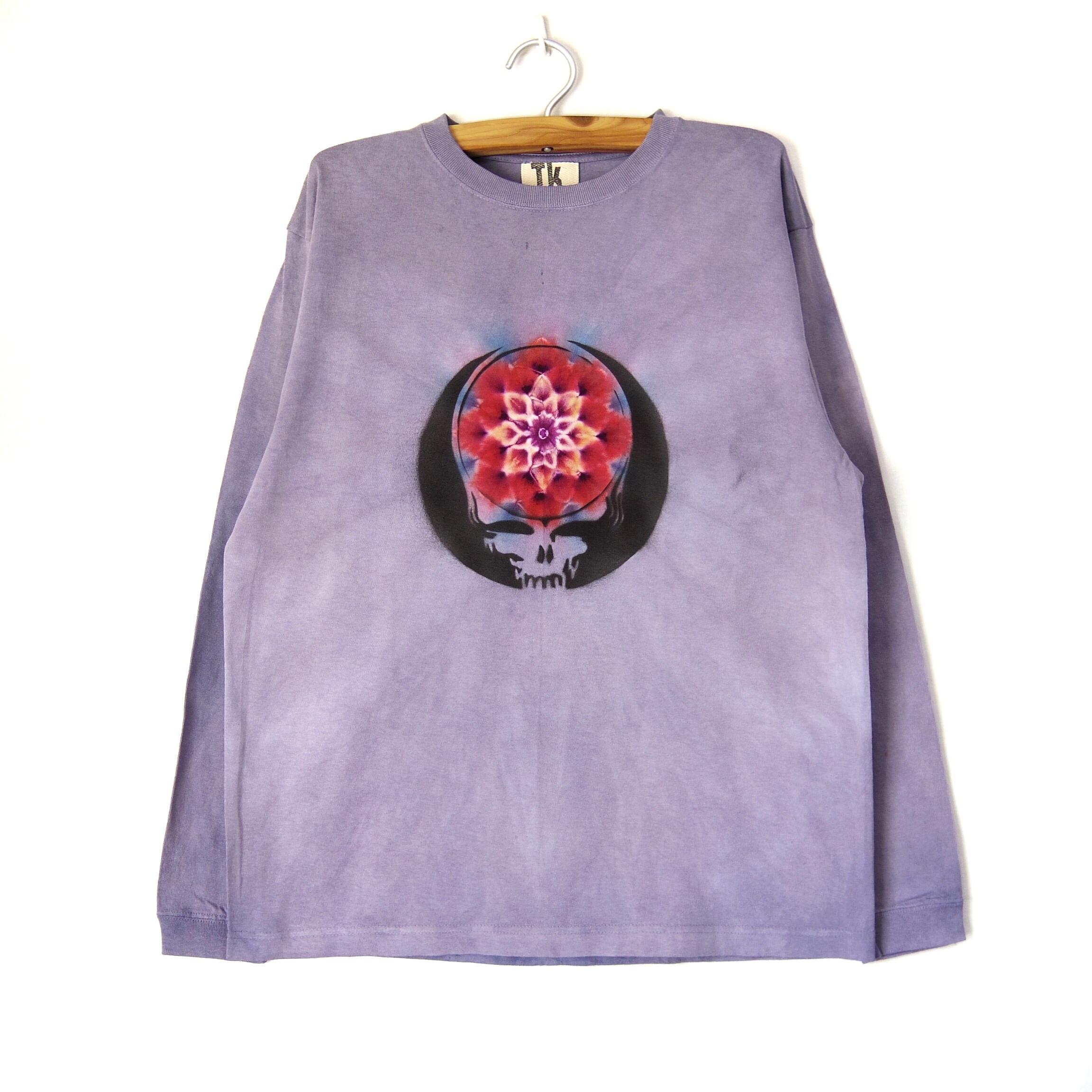 TKHOMEFACTORY × グレイトフルデッド 曼荼羅染め ロングTシャツ L