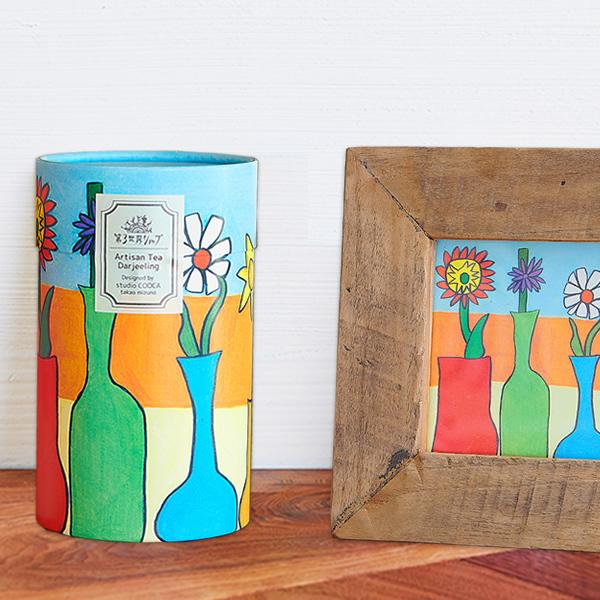 【第3世界ショップ】Artisanダージリン紅茶「花びんの花」(1.8g×6包)