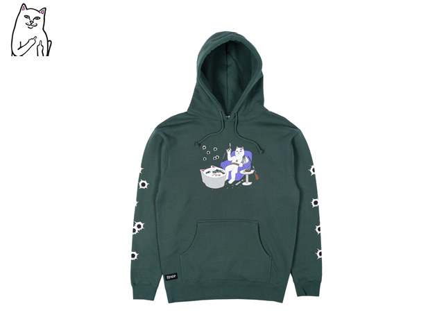 RIPNDIP|Bullet Proof Hoodie (Hunter Green)
