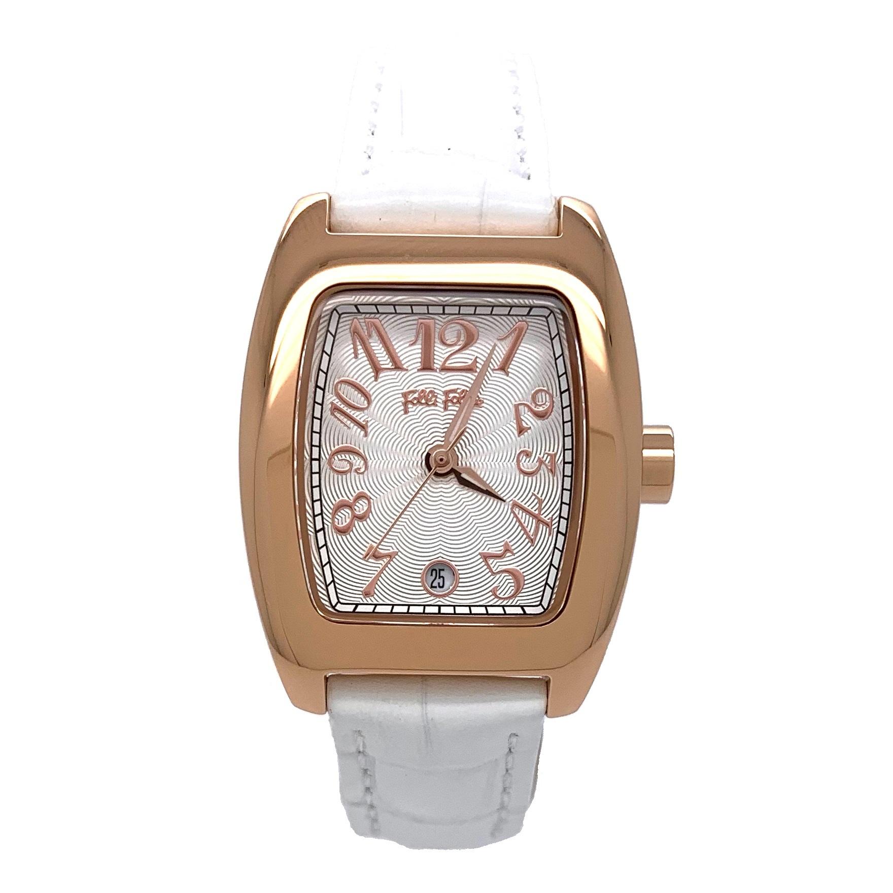 6683c340e8 2年保証 新作 新品 FolliFollie フォリフォリ 腕時計 レディース DEBUTANT デビュタント S922 WF5R080SDS  WF5R080SDS-WH White ホワイト 白 Rose Gold ローズゴールド ...