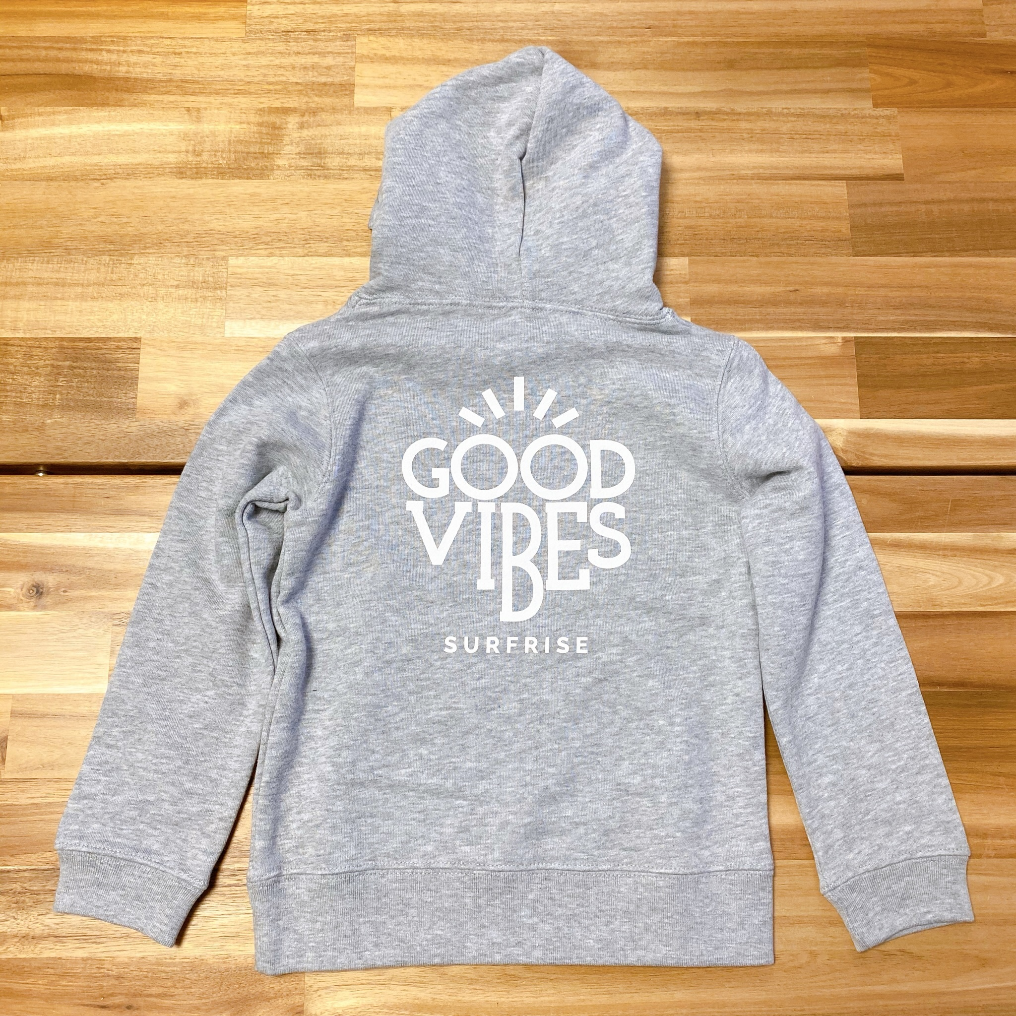 ★Kids★ GOOD VIBES Hoodie - Mix gray