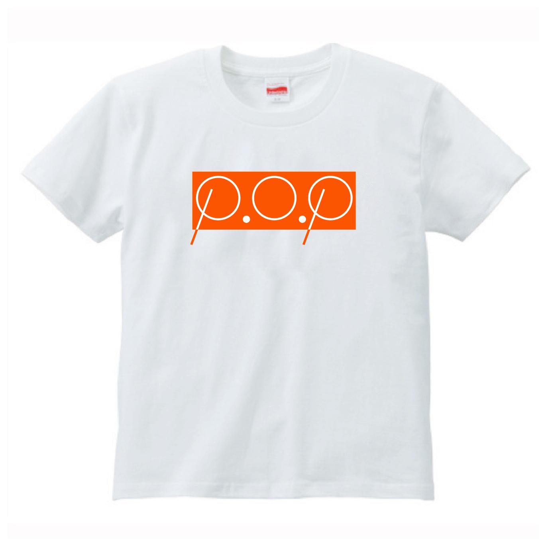 P.O.PボックスロゴTシャツ(オレンジ) - 画像1