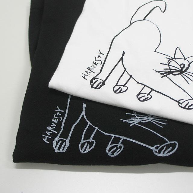 HARVESTY ハーベスティ CATプリントTシャツ 正規取扱店 レディース Tシャツ ゆったり キャット 猫 イワサトミキ 通販 (品番a51910)
