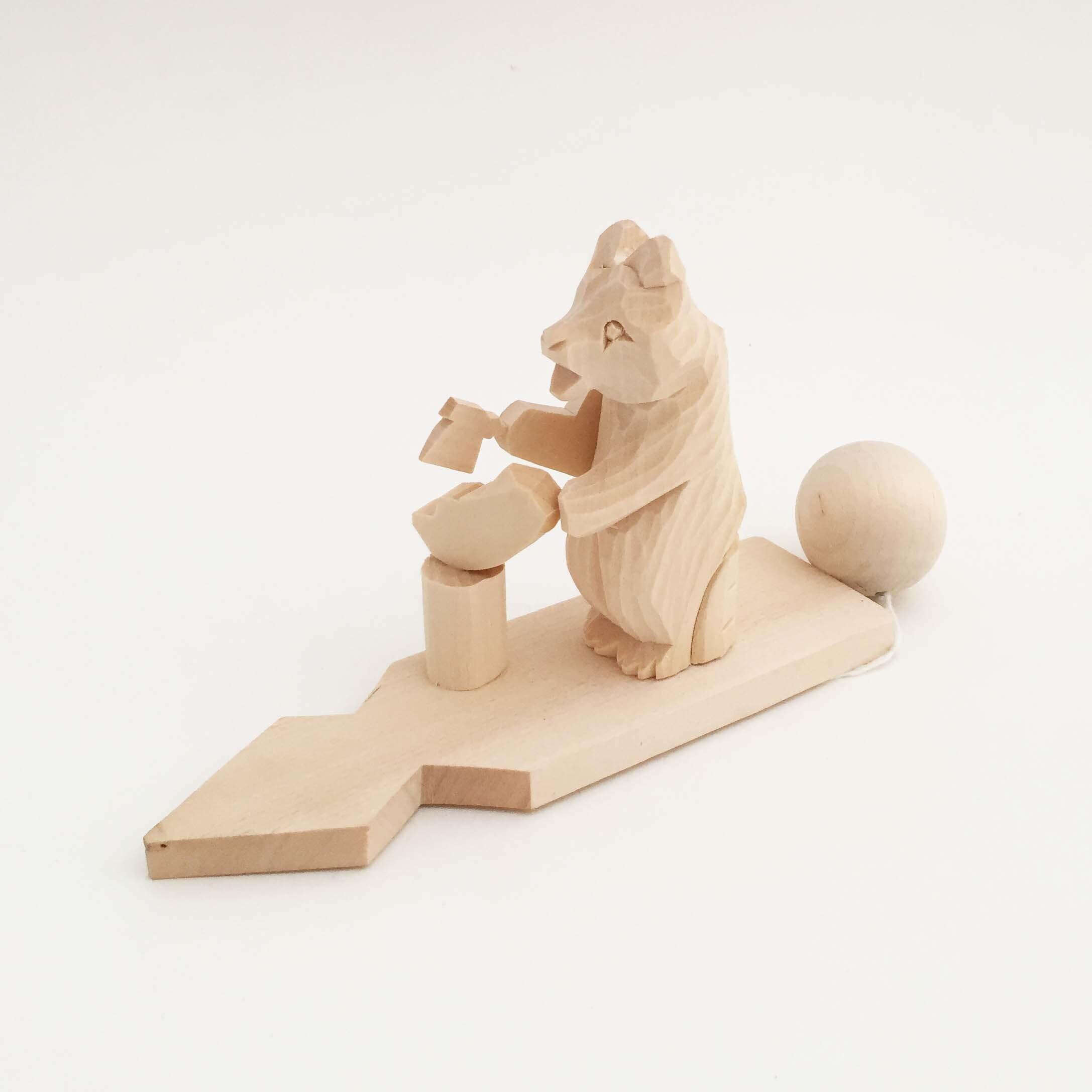 ボゴロツコエ木地玩具「クマの木こり」