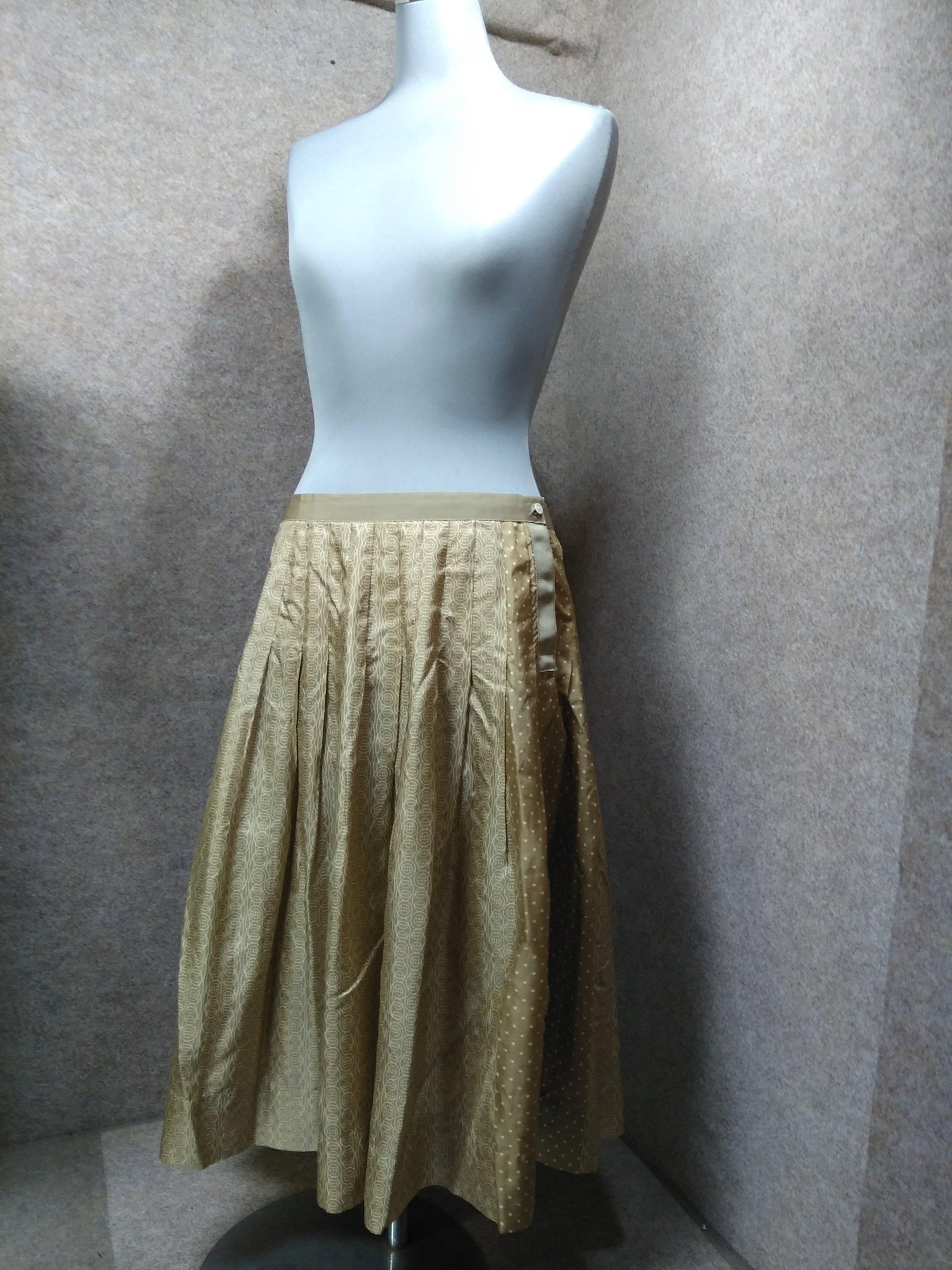 マーガレットハウエル 絹 シルク スカート Ⅱ ライトブラウン u1302j
