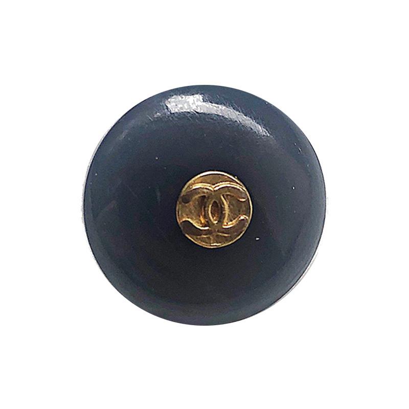 【VINTAGE CHANEL BUTTON】アンティークゴールド ネイビー ココマークボタン