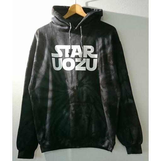 STAR UOZU パーカー スパイダーブラック×ホワイト