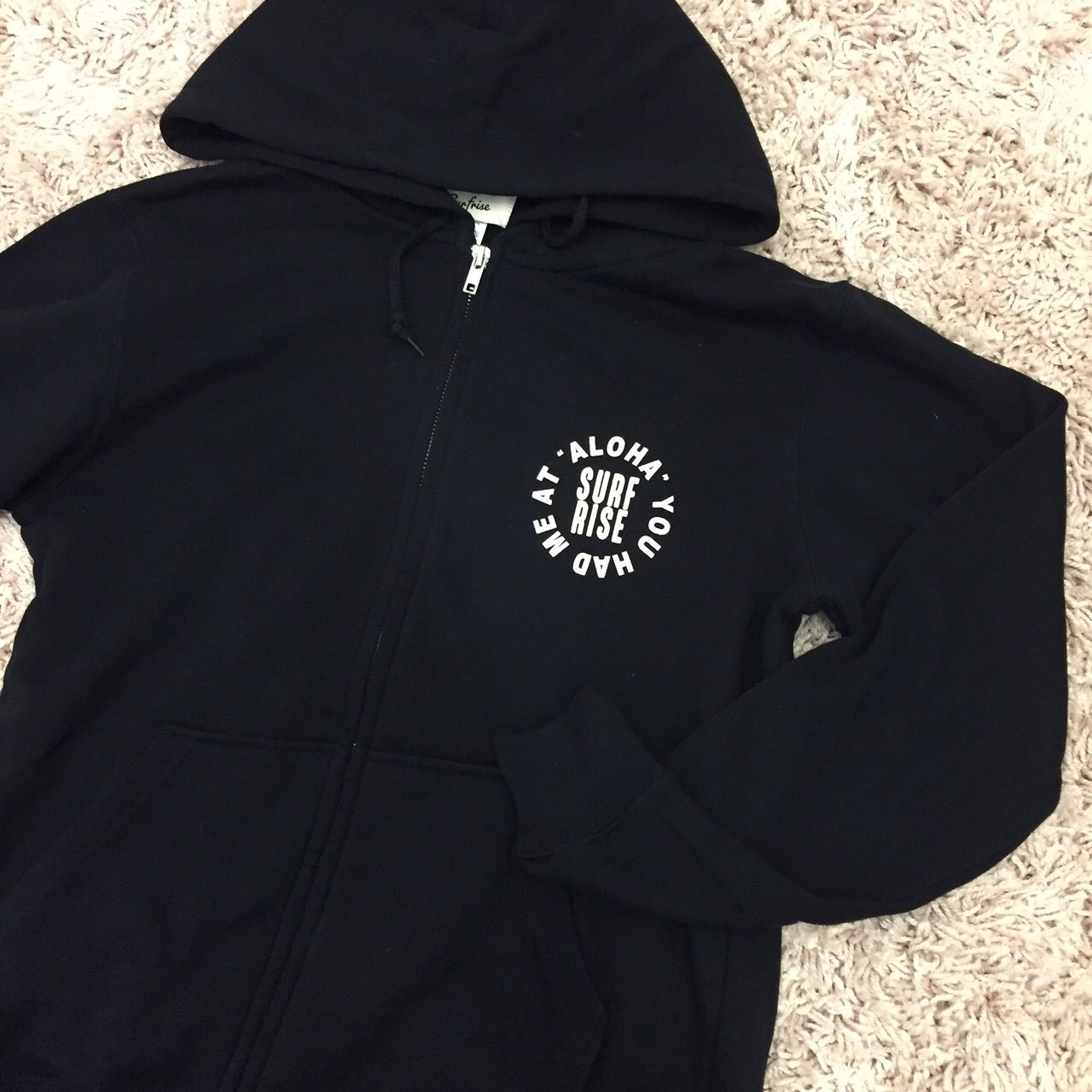 ★Kids★ALOHA zip - Black