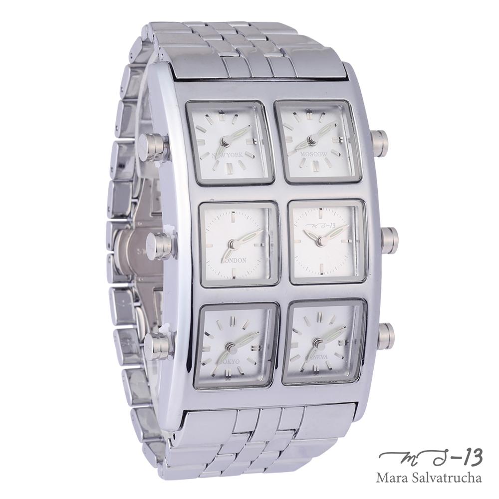 [世界限定100本]【MS-13】腕時計 6TIME ZONE シックスタイムゾーン (カラー:シルバー×シルバー)