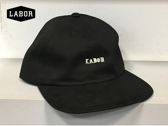 LABOR SKATEBOARD|MONK LOGO CAP BLACK