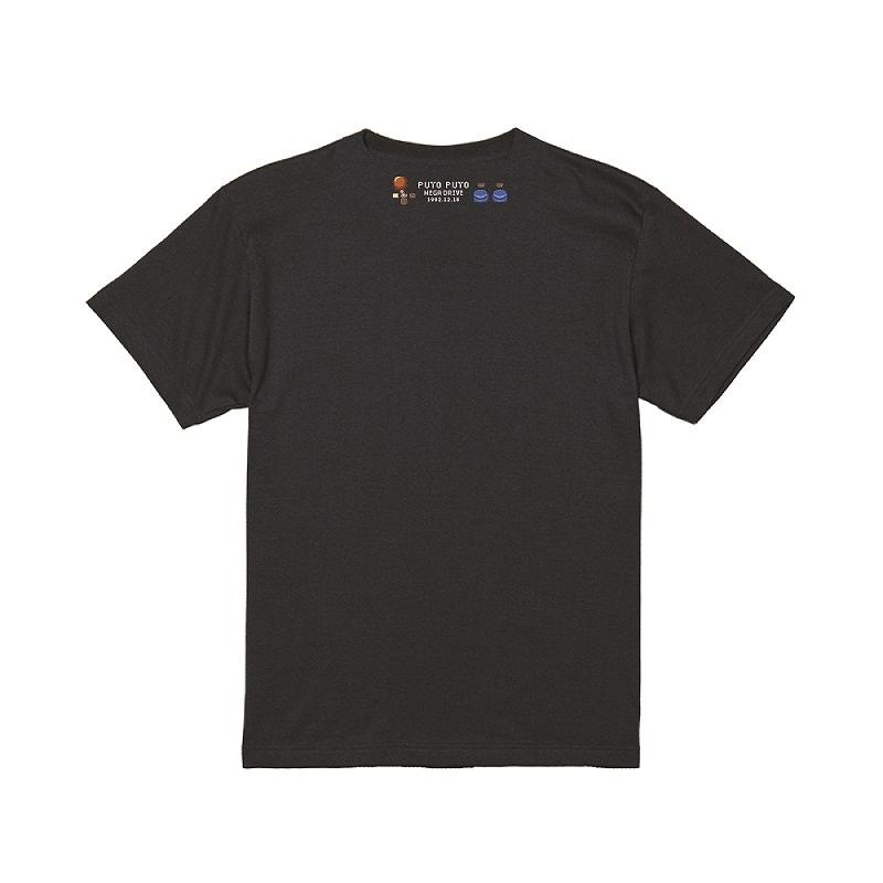 メガドライブ版「ぷよぷよ」Tシャツ ブラック