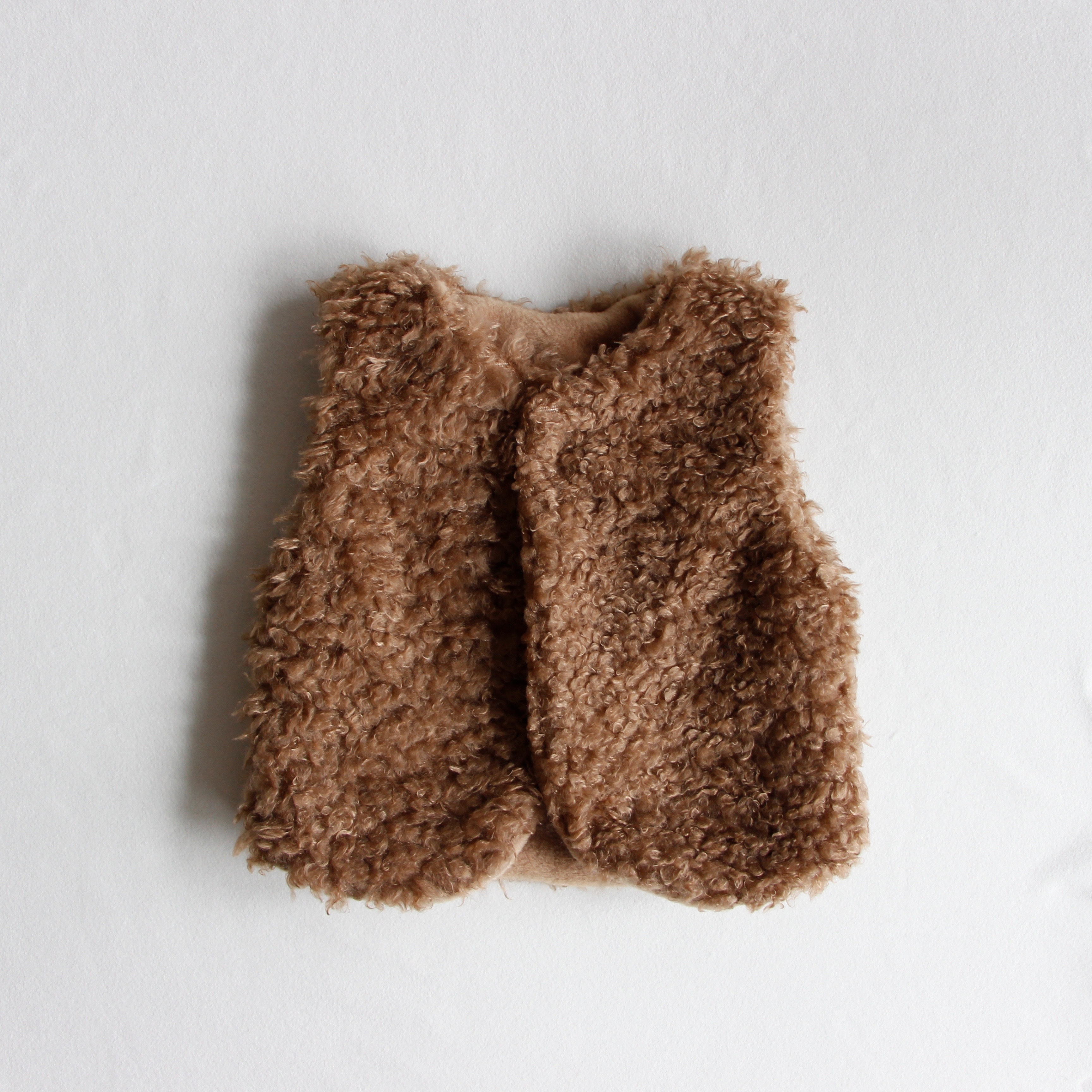 《mimi poupons 2019AW》ボアベスト / brown
