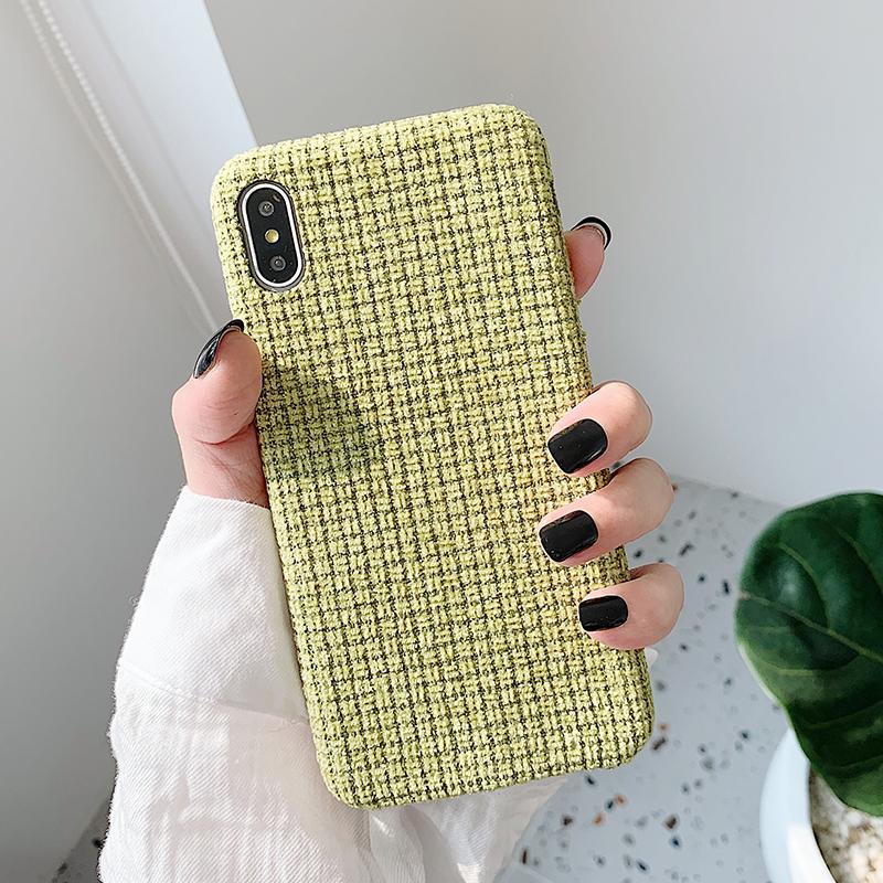 【お取り寄せ商品、送料無料】5カラー 冬仕様 ツイード調 ソリッド iPhoneケース iPhone11